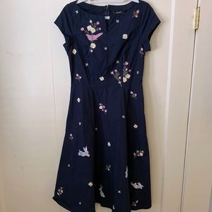 Eshakti Embroidered Woodland Floral Dress